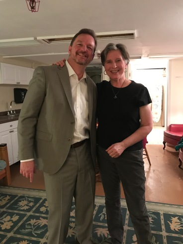 Clark with Janina Fialkowska in the Green Room of Aeolian Hall