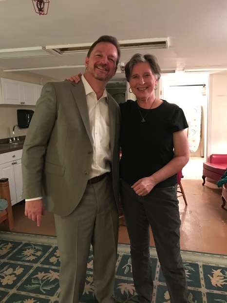 Clark with Janina Fialkowska in the Green Room of Aeolian Hall