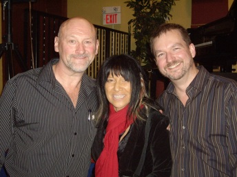 Clark with Buffy Sainte-Marie and husband Bryan Gloyd