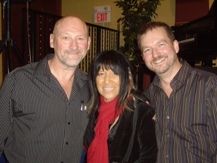 Clark with Buffy Sainte-Marie and husband Bryan Gloyd